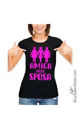 """T-shirt donna """"Amica della sposa"""""""