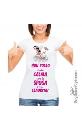 "T-shirt donna ""Sposa Esaurita"""