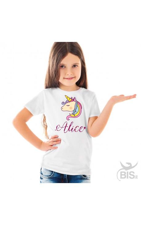 T-shirt bimba unicorno personalizzato