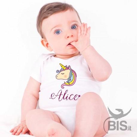 Body bimba unicorno personalizzato