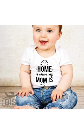 "Baby Bodysuit ""Home is where Mum is"""
