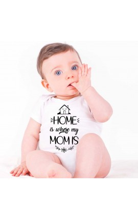 "Baby Girl Bodysuit ""Home is where Mum is"""