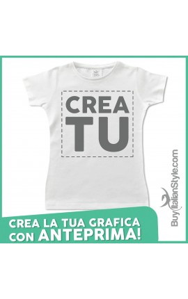 T-shirt bimba manica corta Configuratore
