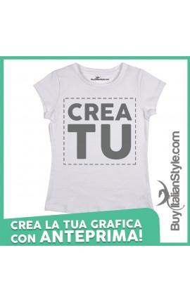 T-shirt donna manica corta configuratore