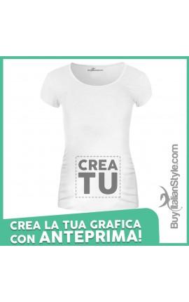 T-shirt Premaman manica corta personalizzata configuratore