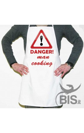 "Personalized Apron ""DANGER Man Cooking"""
