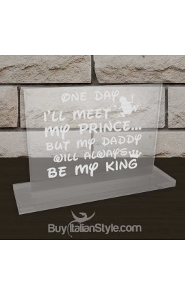 "Personalized Father's Day Office Gifts for Dad - Plate ""Prince/King"""