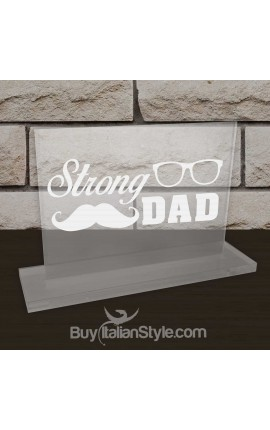 "Personalized Desk Plate ""Strong DAD"""