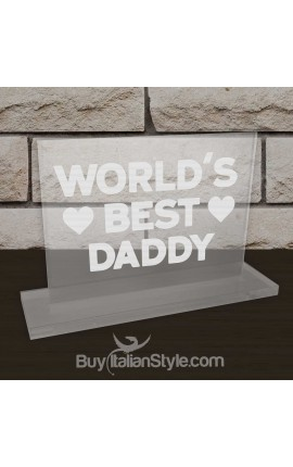 "Personalized Father's Day Office Gifts for Dad - Plate ""World's best Dad"""