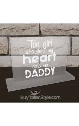 "Personalized Father's Day Office Gifts for Dad - Plate ""The girl who stole my heart calls me Daddy"""