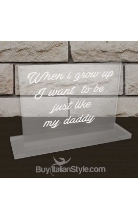 "Personalized Father's Day Office Gifts for Dad - Plate ""WHEN I GROW UP I WANT TO BE JUST LIKE MY DADDY"""