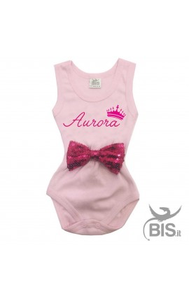 Personalized Bow Baby Bodysuit