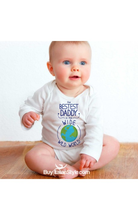 """Baby Bodysuit """"the Bestest Daddy in the Whole Wide World"""""""