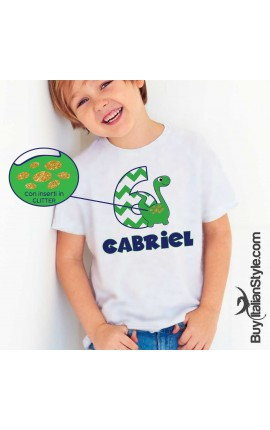 T-shirt bimbo compleanno a tema DINOSAURI