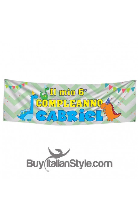 Custom Birthday Banner - Dinosaur