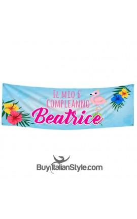 Custom Birthday Banner- Flamingo