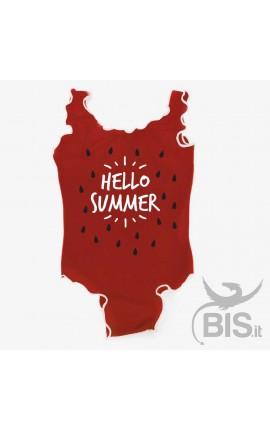 Costume intero bimba anguria HELLO SUMMER