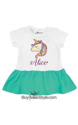 Abitino neonata unicorno personalizzabile