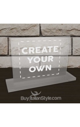 "Personalized Desk Plate ""Create your own"""