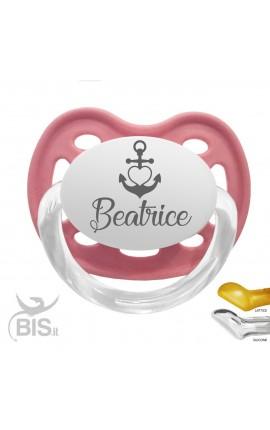 Personalized Dummy anchor + heart, with name