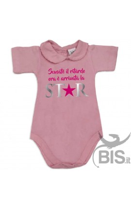 """Baby Girl's Bodysuit with lace-bordered Collar """"I am Daddy's little Pie!"""""""