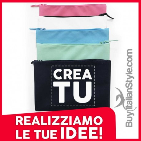 Customizable cloth pouch with text and image