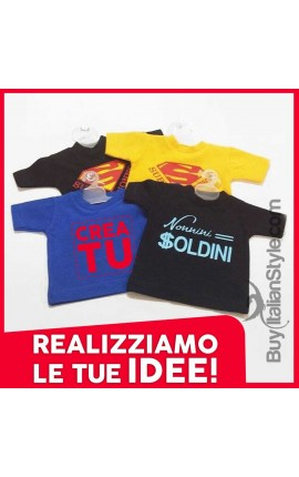 Mini T-SHIRT per Auto colorate personalizzabili