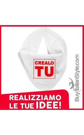 Bavetta a bandana per neonati personalizzabile