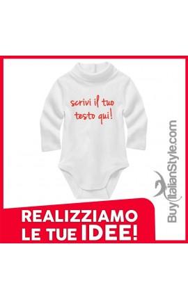 Bis abbigliamento neonato on-line body invernale personalizzabile