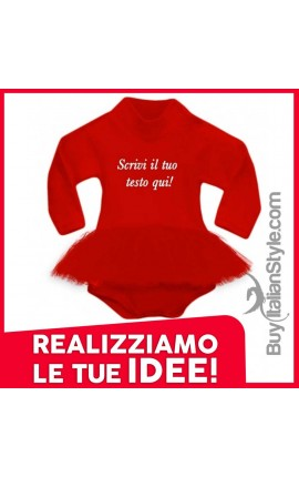 Body Personalizzabile con gonna in tulle