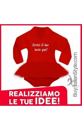 abitino a body natalizio personalizzabile