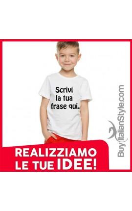 T-shirt bimbo personalizzabile con stampa