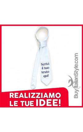 Cravatta personalizzabile con frase