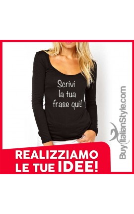 T-shirt maniche lunghe personalizzabile on-line