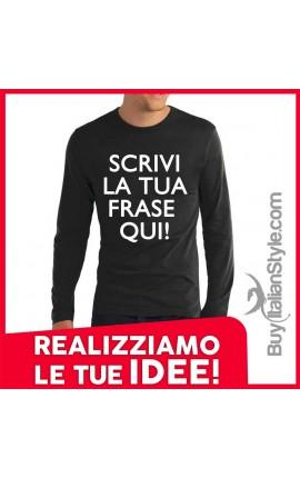 t-shirt uomo invernale personalizzabile