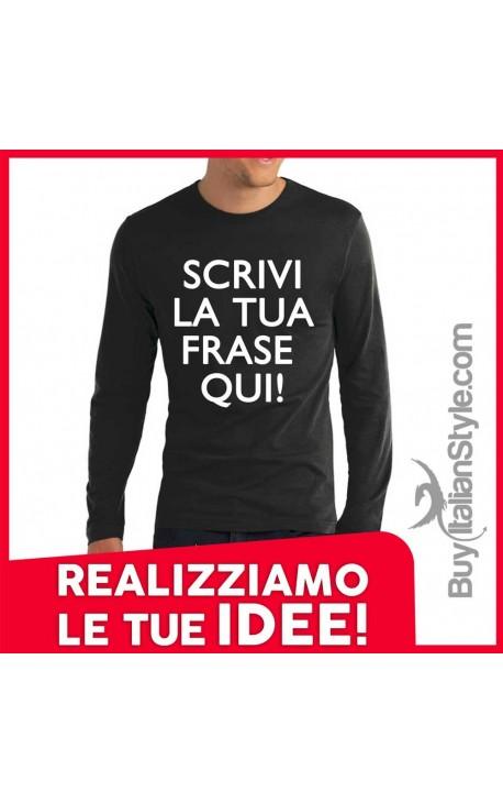T-shirt M-lunga uomo PERSONALIZZABILE