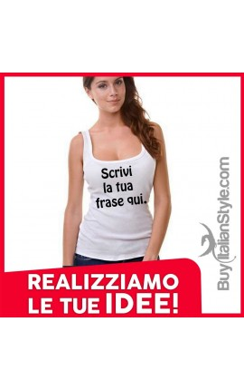 Customized women's tank top
