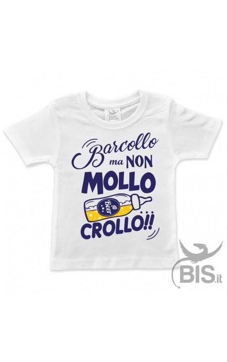 """T-shirt bimbo """"Barcollo ma non mollo"""""""