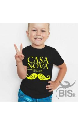"""T-shirt bimbo """"Casanova mi fa un baffo"""""""