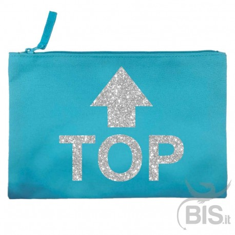 Personalized Canvas Pochette with initials