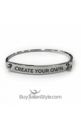 "Personalized Engraved Bracelet ""Create Your Own"""