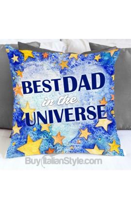 """Federa cuscino """"Miglior papà dell'universo"""""""