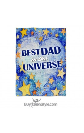 "Personalized Fleece Blanket ""Best DAD in the Universe"""