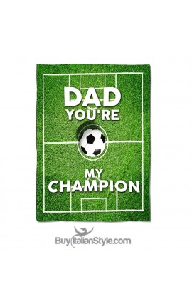 "Personalized Fleece Blanket ""DAD you're my Champion"""