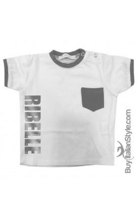 "T-shirt con taschino ""RIBELLE"""