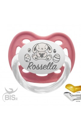 Soother with name and bunny design