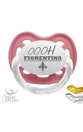"""Ciuccio modello Love con scritta """"ooo Fiorentina"""""""