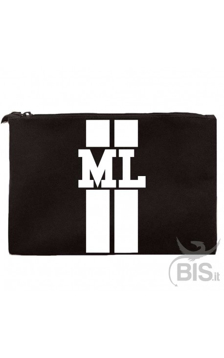 Personalized Canvas clutch bag with initials