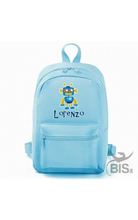 "Personalized Backpack MINI ""Simplex"" Baby Robot"