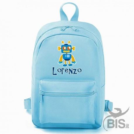 """Zaino MINI """"Simplex"""" BABY ROBOT personalizzabile con nome"""